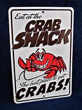 CRAB SHACK - *US MADE* Embossed Sign - Man Cave Garage Bar Pub Diner Wall Decor
