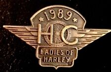 LADIES OF HARLEY DAVIDSON OWNERS GROUP HOG LOH 1989 VEST JACKET HAT PIN