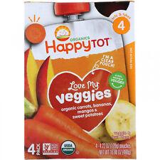 Happy Family Organics, Happy Tot, Love My Veggies, Carrot, Banana, Mango And 4