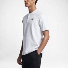 Nike Sportswear Tech Knit Men's Polo Shirt 846409 100 Wht/Pure Plat NWT LARGE