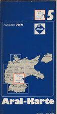 antico Aral Cartina geografica Edizione 70/71 Mappa 5 (Aral 6)