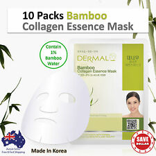 10 X Dermal Bamboo Collagen Essence Facial Face Mask Sheet Skin Pack Korea