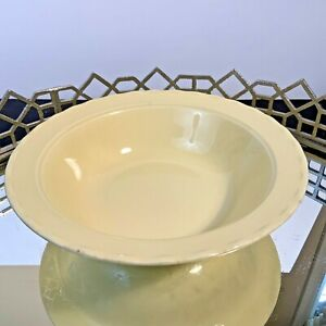 """Vintage Pastel Yellow 9"""" Serving Bowl COMPLIMENTS  LuRay Glassware #DX"""
