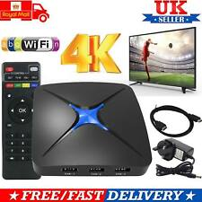 SMART TV Box Android 6.0 Quad Core 2.0Ghz 4K 3D lettore multimediale 1080P MOVIE 2017 UK