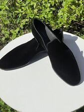 MAGNANNI Herren Schuhe  Samt-Loafer mit Satineinsatz in schwarz Gr 45 /10,5UK 👍