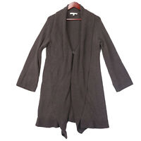 CAbi #226 Women's Brown Open Front Shawl Duster Cardigan Sweater - Size Medium