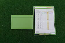Traditional Green leather golf scorecard holder - Original and Best