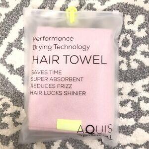 NEW Aquis Original Hair Towel 19*39in, color Pink
