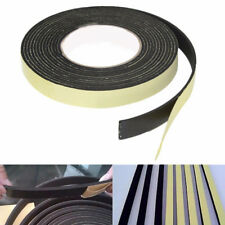 5M Single Sided Self Adhesive  Foam Tape Sponge  Rubber Strip Door Seal Black
