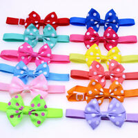 Polka Dot Bow Adjustable Kitten Collar Neck Tie Cat Pet Puppy Cute Colourful UK