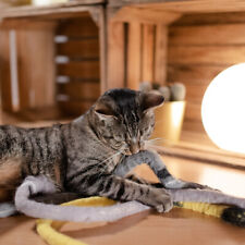 Katzenspielzeug aus Filz Snake - gelb