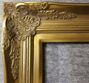 """4"""" B9G Gold Leaf Wood Antique Picture Frame wide photo art wedding gallery 6996G"""