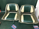 (2) Wise 8WD139LS-011 Cushioned Deluxe Molded Fishing Boat Seat Fold Down Green