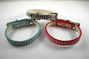 Dog Collar Adjustable Safety Reflective Coat Chrome Buckle 2 Sizes 3 Colours CH