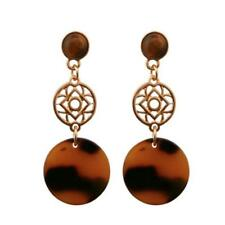 CG2354...ACRYLIC EARRINGS - FAUX TORTOISESHELL - FREE UK P&P