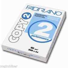 5 RISME A4 21X29,7 500 FG. GR.80 CARTA FABRIANO COPY 2 PERFORMANCE