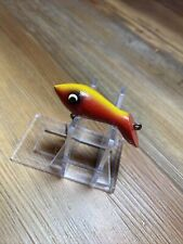 New listing Vintage Fishing Lure Wood Peanut Bait Unknown Eppinger? Great Colors Nice Flyrod
