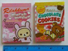 San-x Rilakkuma Marshmallow Cookies Kawaii Mini Memo pad Lot Stationery Japan