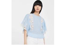 Mango Embroidered Cotton Blouse Size UK 10 LF086 KK 21