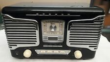 Teac Model SL-D80 Black Retro Nostalgia Radio CD Player AM/FM Stereo Alarm Clock