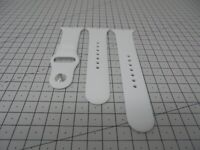 New - Official Apple Watch Sports Band 38mm Strap - White S/M & M/L - 543E