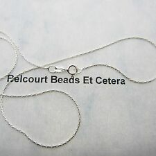 """Sterling Silver .925 Rope Chain 44cm (17.5"""") Length Stamped .925 Italy1.1mm"""