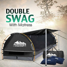 Weisshorn Double Camping Swags Dome Tent Wing - DARK GREY