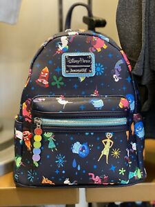 Disney Parks Pixar Inside Out Loungefly Mini Backpack NWT