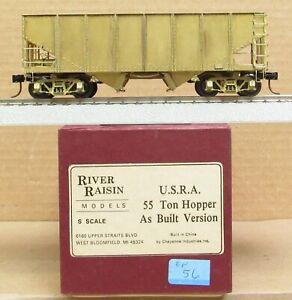 River Raisin Models - USRA 55-Ton Hopper Car As-Built Ver. *BRASS* S-Scale LNIB