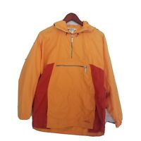 ​Vintage LL Bean Womens Size M 1/4 Zip Windbreaker Hooded Jacket Gold Orange Red