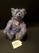 "STEIFF ""CLASSIC TEDDY BEAR""  LIGHT BLUE MOHAIR EAN 005060 WITH SQUEAKER 11"""