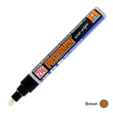 Zig Posterman Wet Wipe Marker - Medium - Brown (Pack of 12)