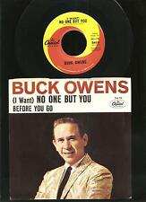 BUCK OWENS, Before You Go...ORIGINAL 45 rpm w/Picture Sleeve, MINT- OLD STOCK!
