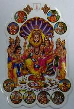 Large Hindu Sticker! * NARASIMHA * 12.9cm x 8.7cm (D-1443)
