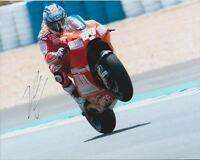 Genuine SIGNED Nicky Hayden ARAI Autograph MotoGP Ducati 12x8 Photo AFTAL COA