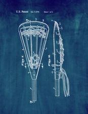 Lacrosse Stick Patent Print Midnight