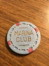 $1 marina club card room chip california casino chip shipping is 3.99
