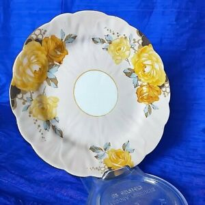 🌟 AYNSLEY APRICOT YELLOW ROSES SIDE PLATE 135176/3 REG 767013