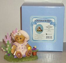 Cherished Teddies Elly Figurine NEW # 4051042 Happiness Begins In The Garden