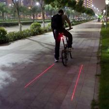 Cycling Bicycle Bike Rear Tail Safety Warning 5 LED+2Laser Flashing Lamp Light
