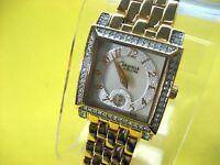 BULOVA CARAVELLE 45L003 LADIES DRESS WATCH G/P & CRYSTAL MOTHER OF PEARL DIAL