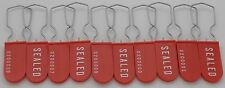 Electric Meter Security Seal Wire Tagout Lockout Padlock Red Pack Of 10