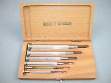 Boley Watchmaker's Wood Boxed Screw Drivers. 87F