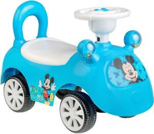 Disney Mickey Mouse Musical Ride On Blue Car with Rattle Kids Toy  +2 years