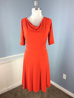Banana Republic S 4 Flare stretch Career Cocktail Cherry Red Dress Cute Wow