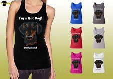 Dachshund Graphic Shirts Cute Dog Dachshund Face Design Ladies Tank Top 19648hd4
