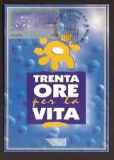 Italia 1999 : 30 ore per la vita ( Folon ) - Cartolina Ufficiale Poste Italiane