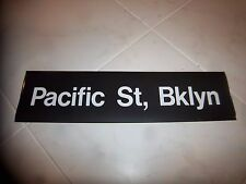 R32 NYC SUBWAY SIGN PACIFIC BROOKLYN COLLECTIBLE DESTINATION BKLYN NY ROLL SIGN