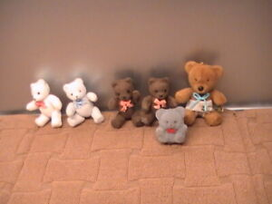 Lot 6 Miniature 4 Jointed Teddy Bears