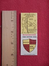 Winchester Gun Club Match Book Skeet Trap 1960s Clay Targets Shotgun Palm Beach